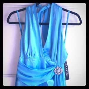 Bari Jay Turquoise Bridesmaid Dress